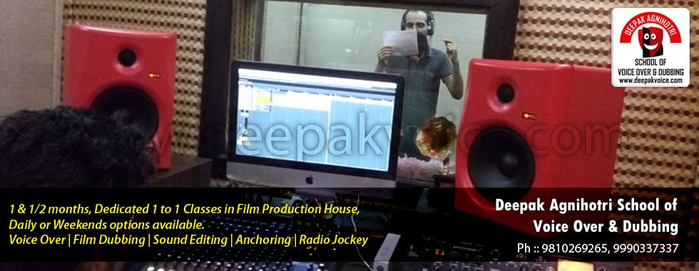 Voice Over Training at Film Studio by 18 Years Experienced Voice